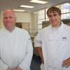 Chef Weaver and Culinary Student